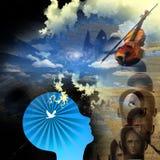 umysł muzyka Zdjęcie Stock