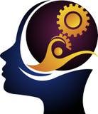 Umysł przekładni logo ilustracja wektor