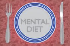 Umysłowy diety pojęcie ilustracji