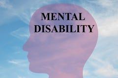 Umysłowy Inwalidzki pojęcie royalty ilustracja