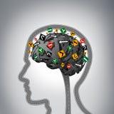 Umysłowy stres ilustracja wektor