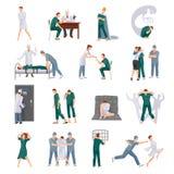 Umysłowych Illnesses ikony Ustawiać ilustracji