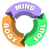 Umysłu ciała duszy strzała okręgu cyklu Wellness zdrowie