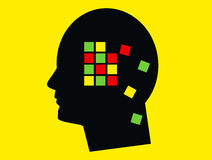 Umysłu pojęcia Alzheimer ` s choroba Zdjęcia Stock