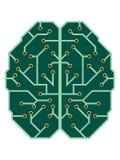 Umysł jako elektryczna drukowana obwód deska ilustracji