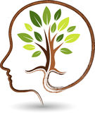 Umysłu drzewa logo Obrazy Stock