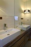 umywalkę w łazience Obraz Royalty Free