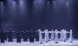 "Un  de shelter†de dance""No du ` s d'adieu-Huang Mingliang Photo stock"
