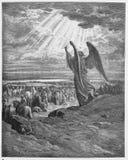 Un ángel aparece a los Israelites fotos de archivo