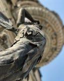 Un ángel en el lado de un edificio viejo en Odessa, Ucrania Fotografía de archivo libre de regalías