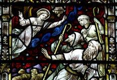 Un ángel está advirtiendo a los pastores Imagen de archivo libre de regalías