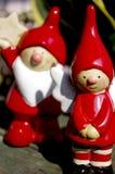 Un ángulo de la Navidad de la sonrisa Imagen de archivo libre de regalías