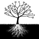 Un árbol con los diamantes libre illustration