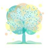 Un árbol con un libro ilustración del vector