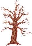Un árbol marrón stock de ilustración