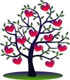 Un árbol por completo de corazones Imagen de archivo