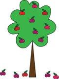 Un árbol simple con las manzanas Fotos de archivo libres de regalías