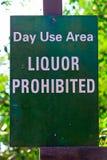 Un área del uso del día, licor prohibió la muestra imágenes de archivo libres de regalías