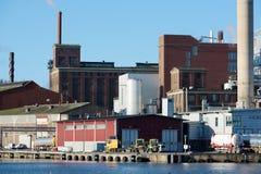 Un área industrial Fotos de archivo libres de regalías