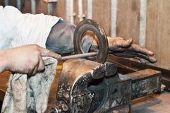 Un área industrial Trabajos de la trabajo de metalistería Foto de archivo libre de regalías