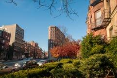 Un ?rea residencial en Boston fotografía de archivo libre de regalías