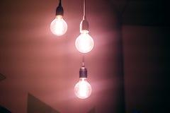Un éclat lilas d'ampoule Image stock