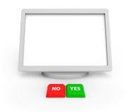 Un écran blanc Photographie stock libre de droits