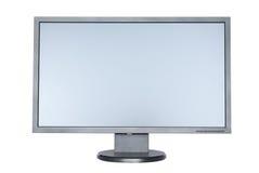 Un écran large plat d'ordinateur image stock