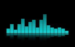 un égaliseur bleu de musique Image libre de droits