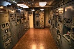 Un équipement cryptographique sur un panneau d'USS Pueblo AGER-2 Pyong Yang, DPRK - Corée du Nord Photographie stock libre de droits