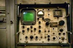 Un équipement cryptographique sur un panneau d'USS Pueblo AGER-2 Pyong Yang, DPRK - Corée du Nord Images libres de droits
