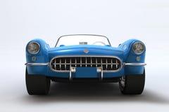 Un 3D rende di un Chevrolet Corvette 1957 Fotografie Stock