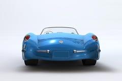 Un 3D rende di un Chevrolet Corvette 1957 Immagini Stock