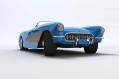 Un 3D rinde de un Chevrolet Corvette 1957 ilustración del vector