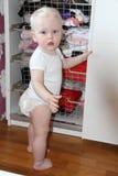 Un años de bebé en casa Fotografía de archivo libre de regalías
