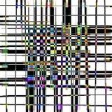 Un abrégé sur plaid de treillis avec des accents de couleur Photographie stock libre de droits