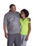 Un abuelo y su nieta adolescente Fotografía de archivo libre de regalías