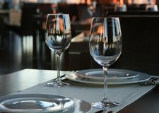 Un accoppiamento dei vetri di vino Fotografie Stock Libere da Diritti