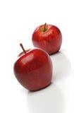 Un accoppiamento delle mele rosse Fotografia Stock Libera da Diritti
