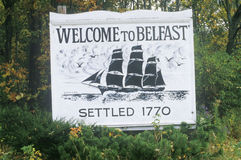 Un accueil au signe de Belfast image stock
