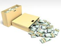Un'accumulazione di 100 euro fatture Immagine Stock Libera da Diritti