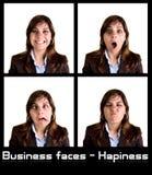 Un'accumulazione di 4 ritratti della donna di affari Immagine Stock