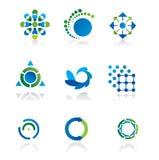 Un'accumulazione di 9 elementi di disegno Fotografia Stock Libera da Diritti