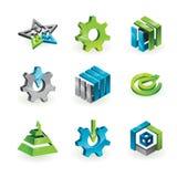 Un'accumulazione di 9 elementi e grafici di disegno Immagini Stock