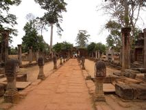 Un acercamiento de Banteay Srei en el año 2008 imagen de archivo libre de regalías