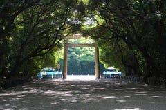 Un acercamiento de la capilla sintoísta de Atsuta imagen de archivo