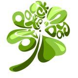 Un'acetosella di quattro foglie royalty illustrazione gratis