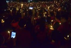 Un acte paisible de bougie à Semarang Photographie stock libre de droits