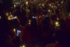 Un acto pacífico de la vela en Semarang Imágenes de archivo libres de regalías