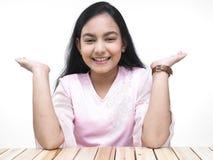Un adolescente abbastanza asiatico immagine stock libera da diritti